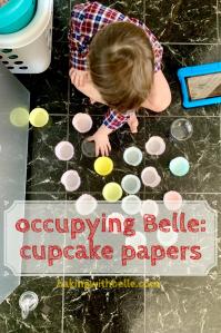 Cupcake paper pin