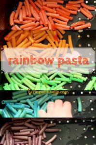 Rainbow pasta pin
