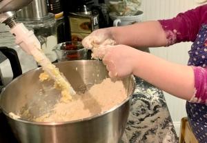 Rubbing butter