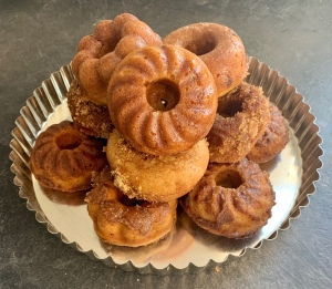Fresh baked apple cider doughnuts