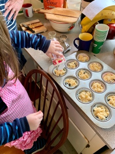 Sprinkling onto muffins