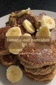 Banana oat pancakes pin